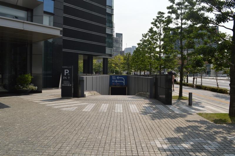 住友不動産飯田橋ファーストタワー駐車場入口