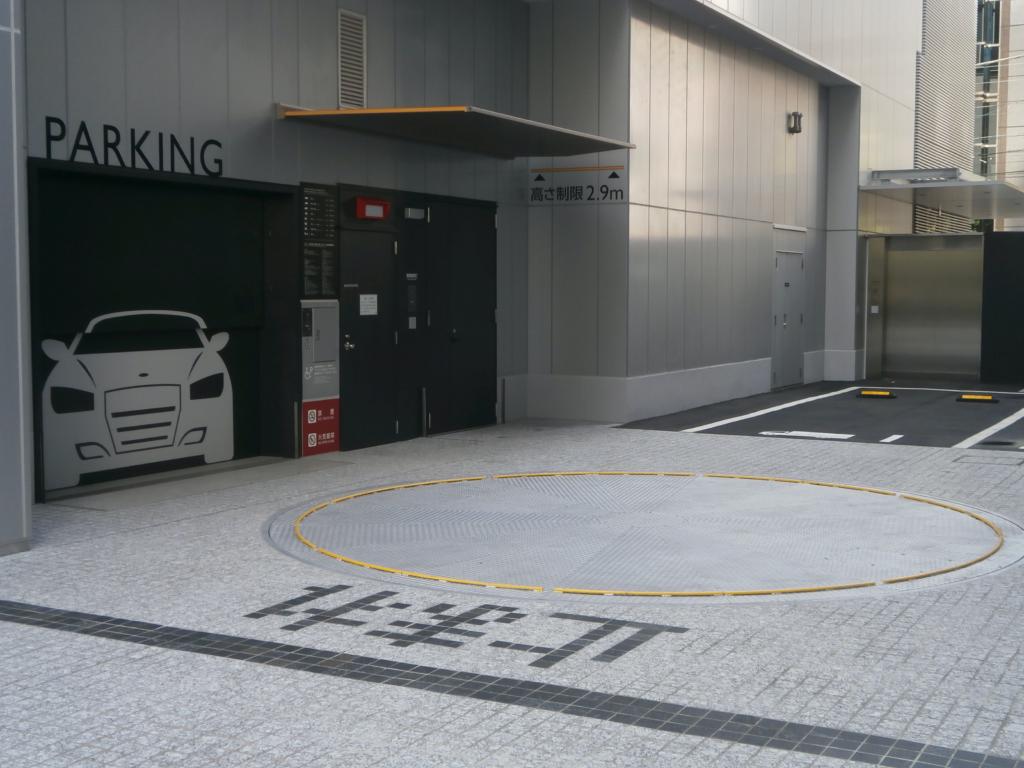 田町ビル月極駐車場入り口